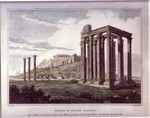 The Temple of Jupiter Olympius & The Parthenon at Athens- A Pair